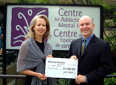 We raised $7,000 for the CAMH Foundation in 2003