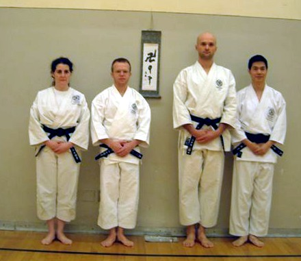 Isabel, Slava, Yan and Richard passed their 2nd dan exams in December